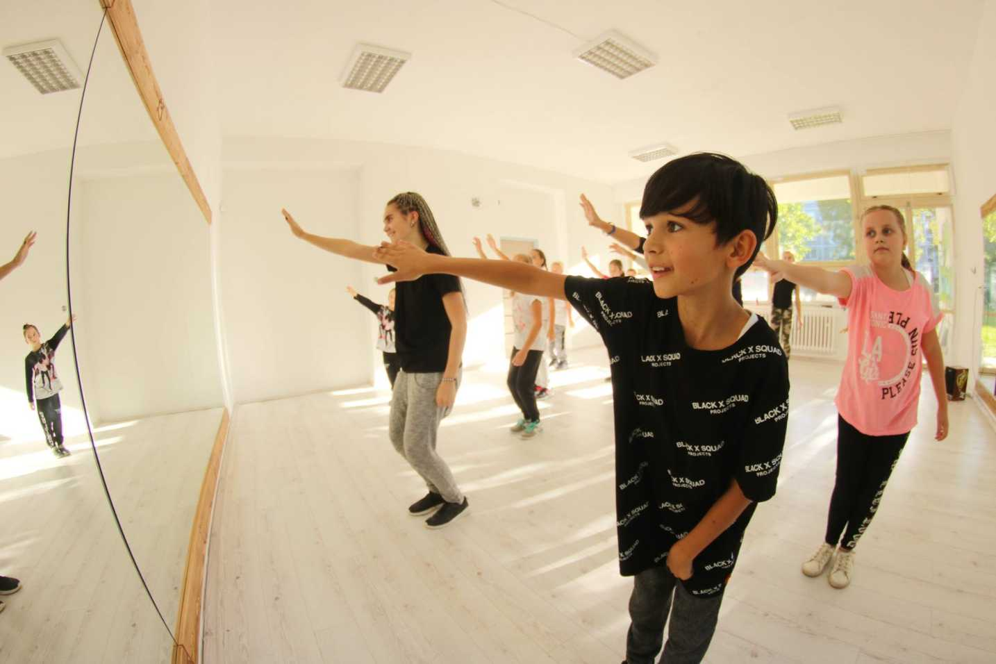 Deti na tanečnom tábore