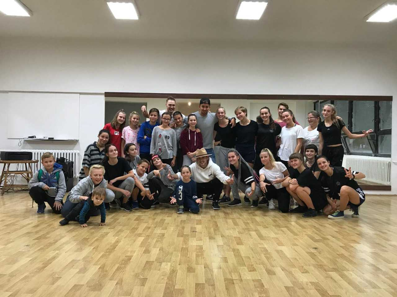 Tanečný workshop spoločná fotka