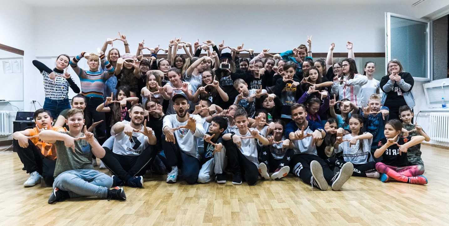 Spoločná fotka na tanečnom workshope
